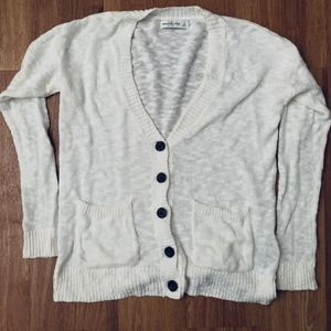 Abercrombie and Fitch white cardigan